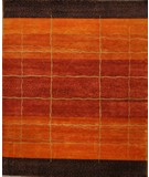 RugStudio presents ORG Tibetan Weave D-003 (80 Knot) Rust Hand-Knotted, Good Quality Area Rug